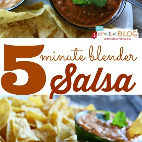 5 minute blender salsa recipe | homemade salsa is easy and fast with this recipe! Restaurant Style | TodaysCreativeLIfe.com