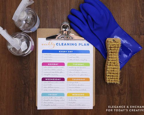Weekly Cleaning Schedule Printable | TodaysCreativeblog.net