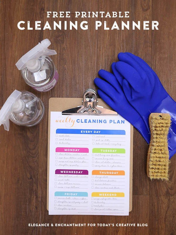 How Often Should You Clean Things in your Home | Free Printable Cleaning Schedule | Todayscreativelife.com