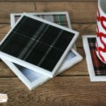 DIY Decoupage Coasters | Tartan Plaid | TodaysCreativeBlog.net