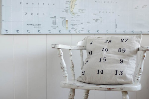 DIY Special Dates Pillow Cover | Easy sewing project | DIY Craft project to celebrate important family dates | See more on Today's Creative Life