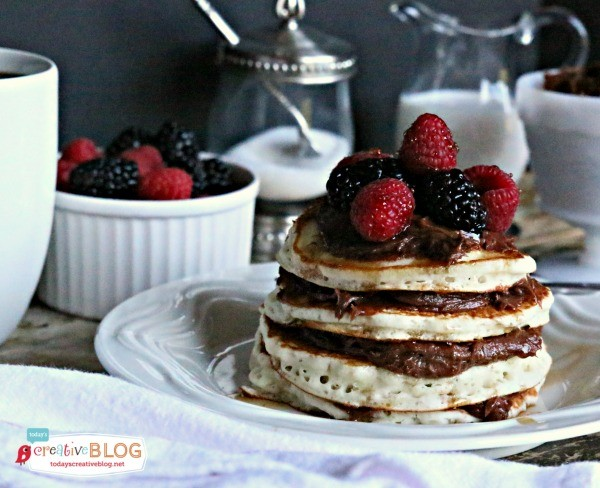 Nutella Cream Cheese Pancakes | TodaysCreativeBlog.net