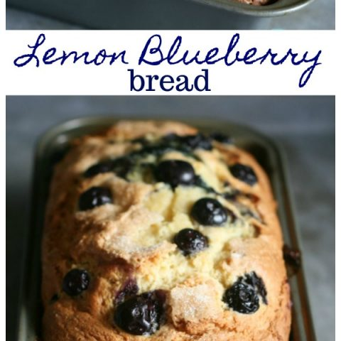 Lemon Blueberry Bread with Lemon glaze | This Quick bread recipe is easy to bake. Delicious! No yeast. See the recipe on todayscreativelife.com