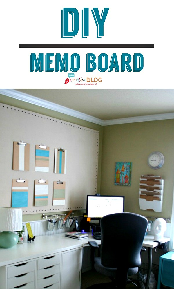 DIY Memo Board | How to make a Bulletin Board | TodaysCreativeBlog.net