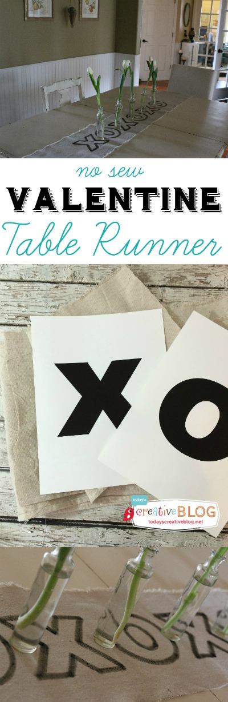 Valentine Table Runner   TodaysCreativeBlog.net