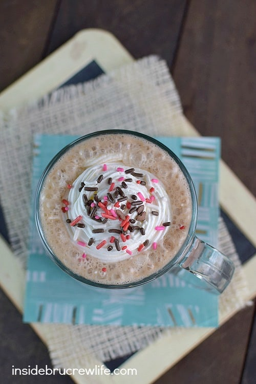peanut butter chocolate latte by