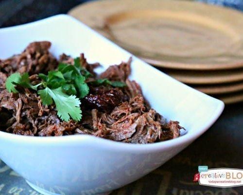 Chipotle Pepper Crockpot Shredded Beef | TodaysCreativeBlog.net