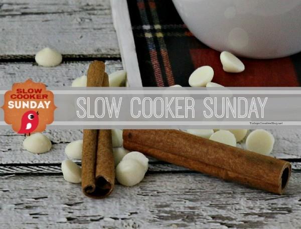 Crockpot White Chocolate Latte   Slow Cooker Sunday on TodaysCreativeBlog.net