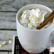 Crockpot White Chocolate Latte | Slow Cooker Sunday on TodaysCreativeBlog.net