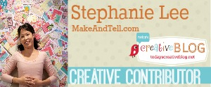 Paint Chip Garland - Stephanie Lee on TodaysCreativeblog.net
