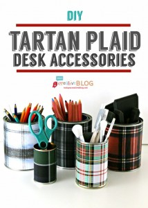 Tartan Plaid Desk Accessories