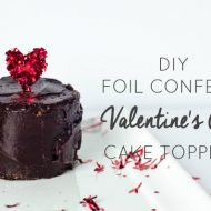 DIY Confetti Valentine's Day Cake Toppers