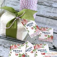 DIY detox bath recipe gift packages