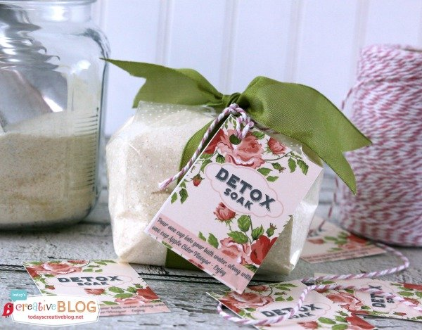 DIY Detox Bath Recipe packets