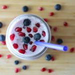 Pomegranate Blueberry Coconut Smoothie | TodaysCreativeBlog.net