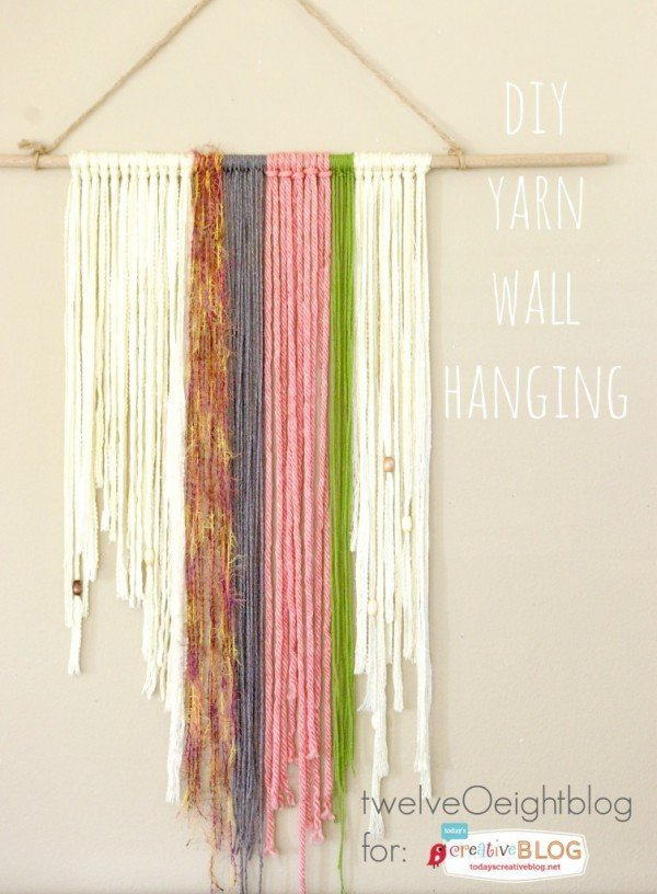 DIY Yarn Wall Hanging | TodaysCreativeBlog.net