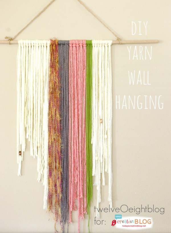 DIY Yarn Wall Hanging Tutorial | Get the boho look with your own diy project! See the tutorial on TodaysCreativeLife.com