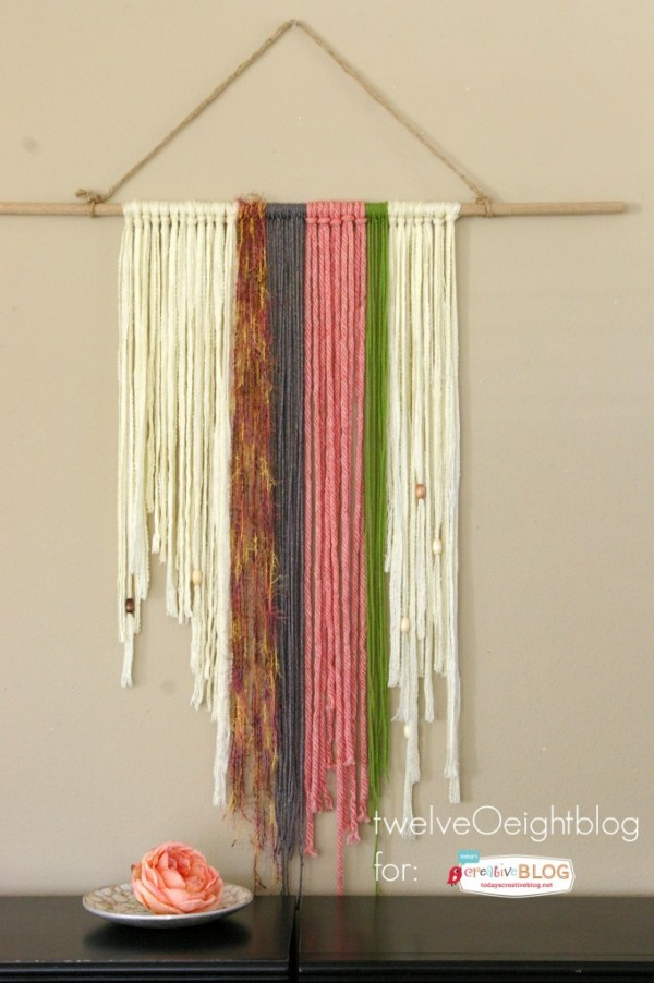 DIY Yarn Wall Hanging | How to make a woven DIY Yarn Wall Hanging found on TodaysCreativeLife.com