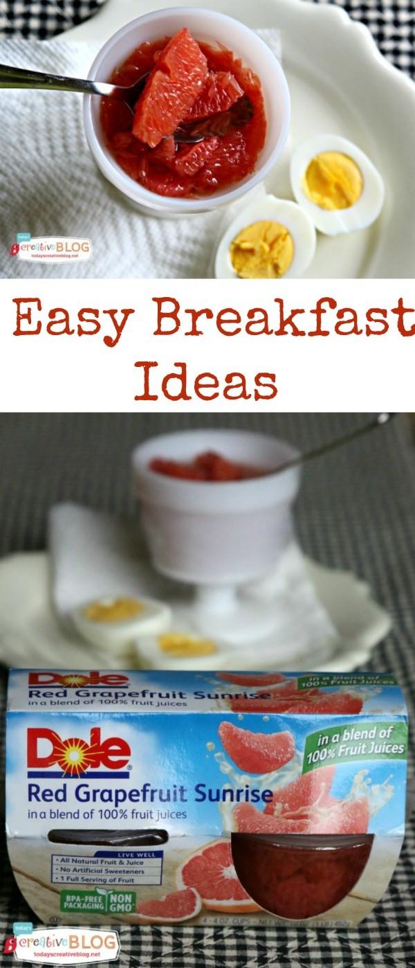 Grapefruit for Breakfast | Easy Breakfast Ideas | TodaysCreativeBlog.net