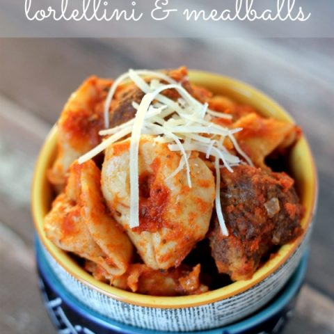 Easy Slow Cooker Tortellini and Meatballs