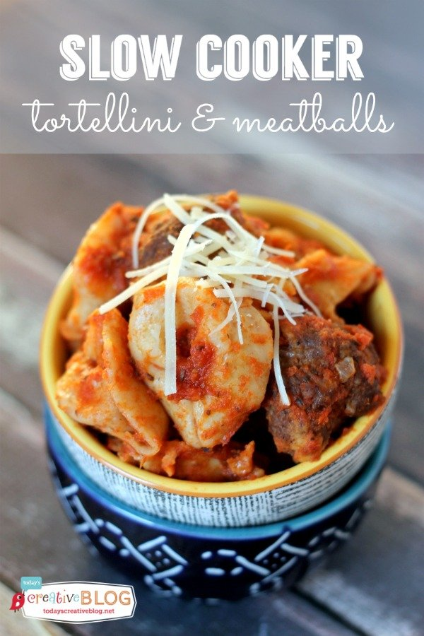 Easy Slow Cooker Tortellini and Meatballs Recipe | Slow Cooker Sunday ...