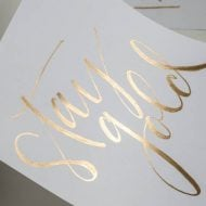 DIY Gold Foil St. Patrick's Day Prints Tutorial | ST. Patricks Day Wall Art | TodaysCreativeBlog.net