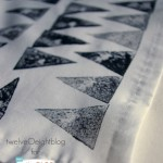 Hand Stamped Cloth Napkins | by TwelveOeightBlog for TodaysCreativeBlog.net