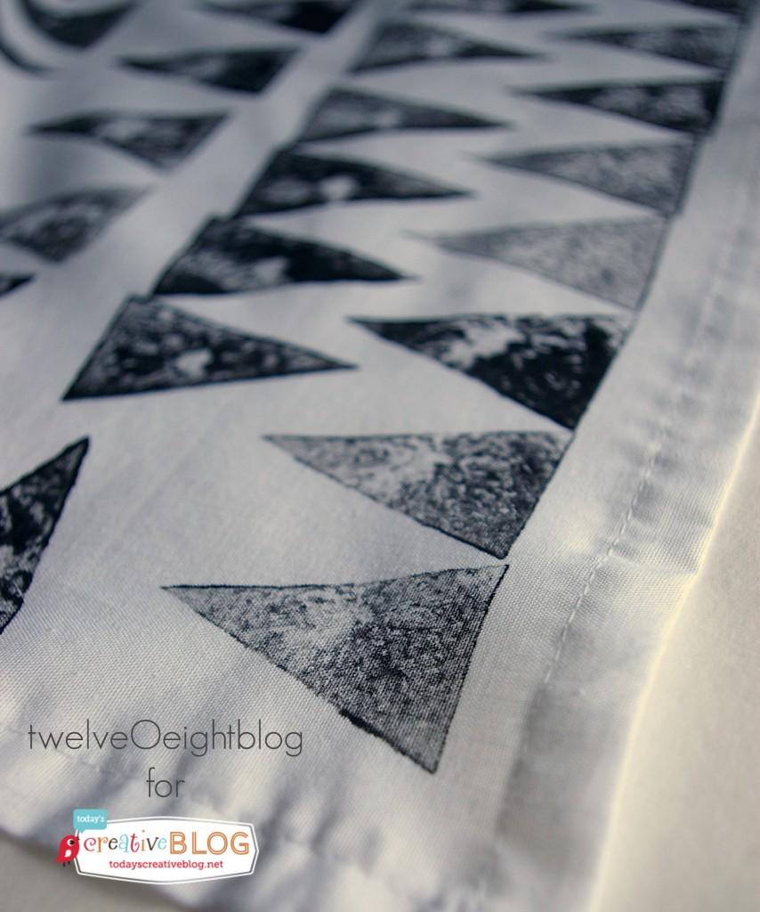 Hand Stamped Cloth Napkins | by TwelveOeightBlog for TodaysCreativeBlog.net