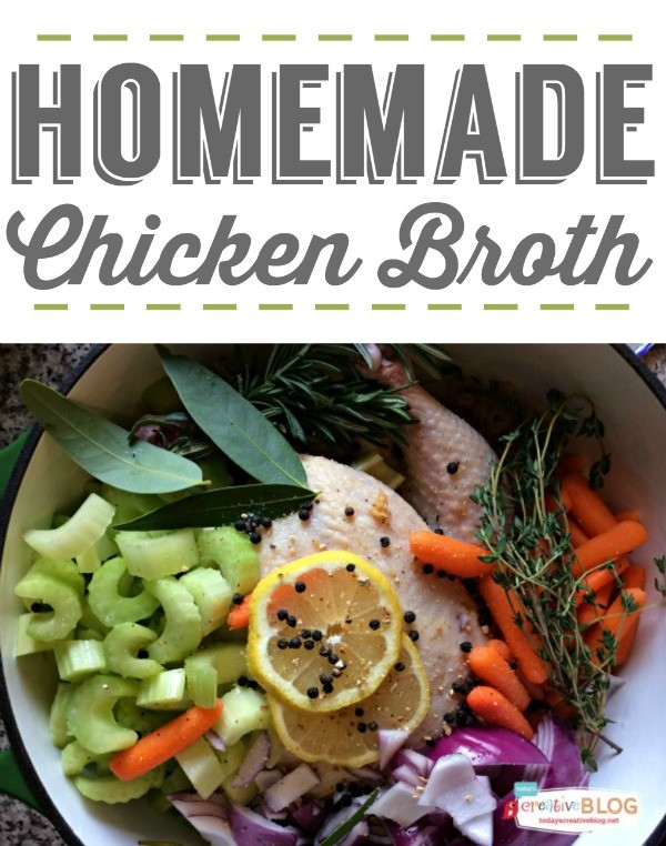 Homemade Chicken Broth from Scratch | make a variety of soups using this flavorful vegetable and chicken broth. TodaysCreativeLife.com