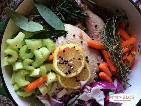 Homemade Chicken Broth Recipe | TodaysCreativeBlog.net