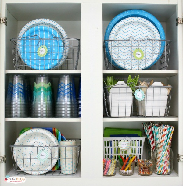 Create a Party Pantry full of party paper supplies | TodaysCreativeLife.com
