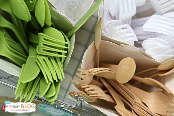Party Pantry for Party Supplies | TodaysCreativeBlog.net | Party Pantry Cutlery