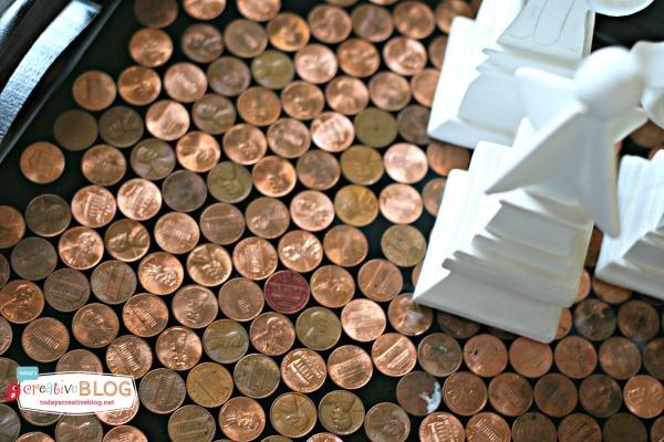 DIY Penny Tray with EnviroTex | TodaysCreativeBlog.net