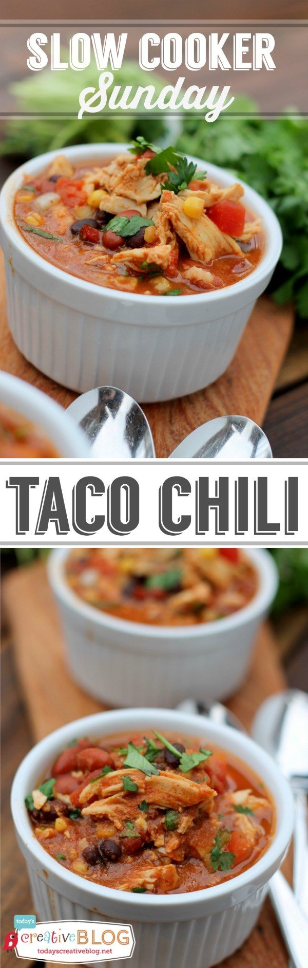 Slow Cooker Taco Chili Recipe collage