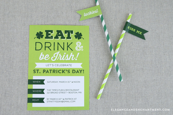 FREE St. Patrick's Day Printable Soda & Beer Labels | TodaysCreativeBlog.net