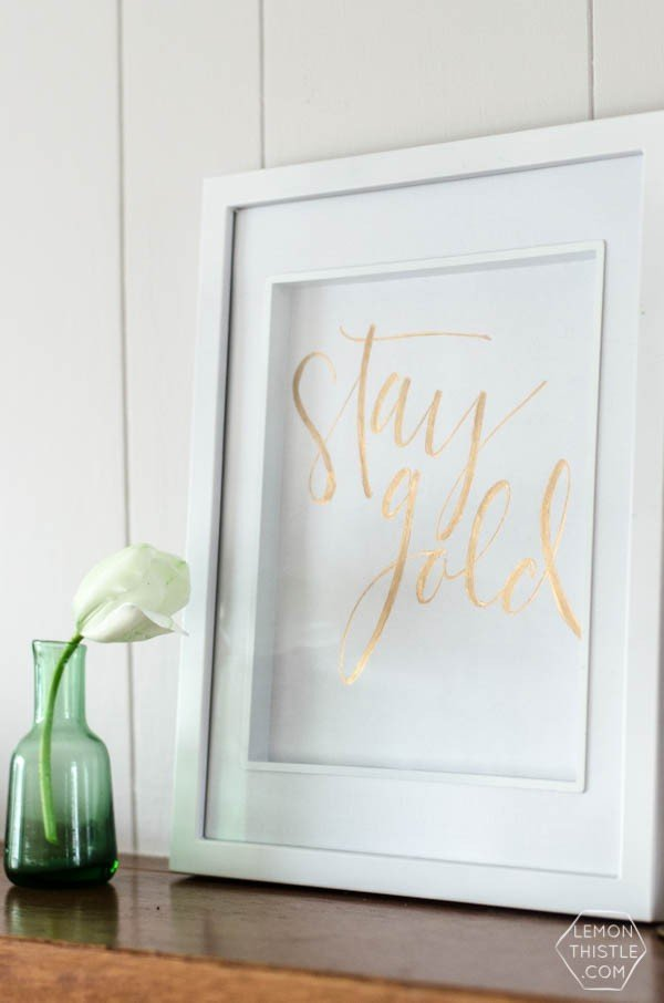 DIY Gold Foil St. Patrick's Day Prints | St. Patrick's Day | TodaysCreativeBlog.net