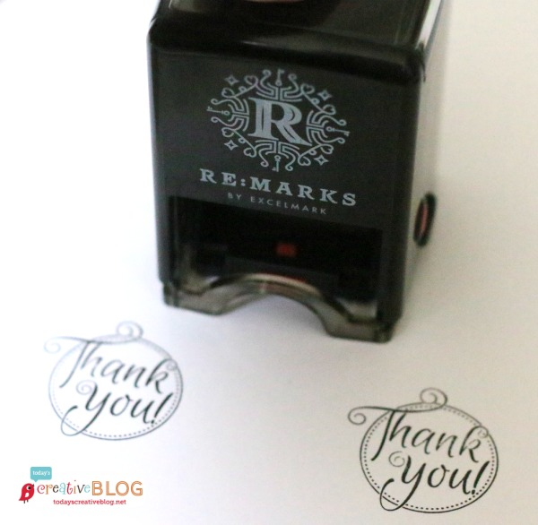 Quick & Easy Thank you Gift - Re:Marks Personalized Stamp | TodaysCreativeBlog.net