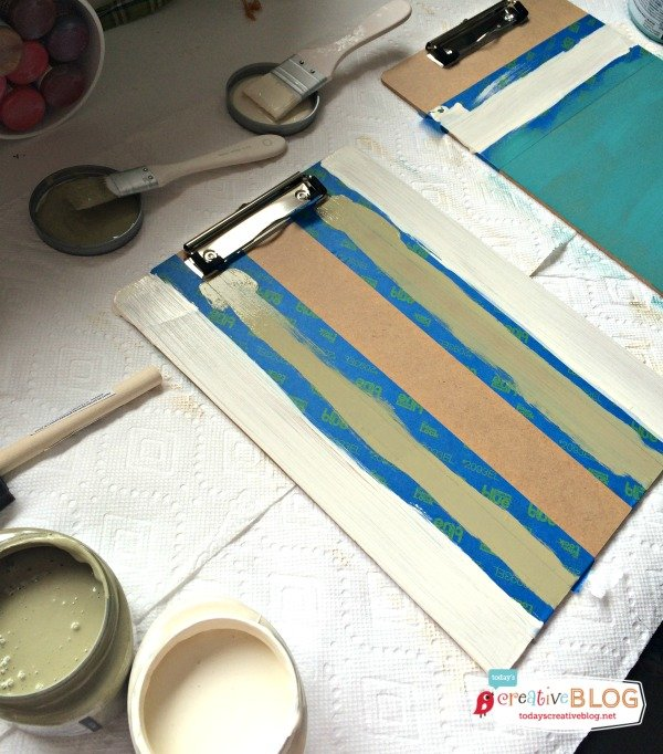Colorblock painting Clipboards | TodaysCreativeBlog.net