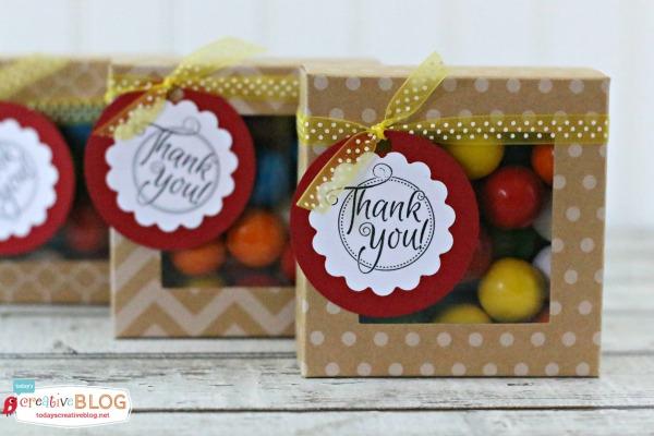 Quick & Easy Thank you Gift - Gumballs | TodaysCreativeBlog.net