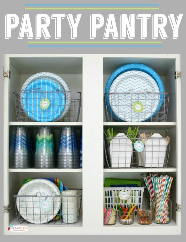 Party Pantry for Party Supplies | TodaysCreativeLife.com