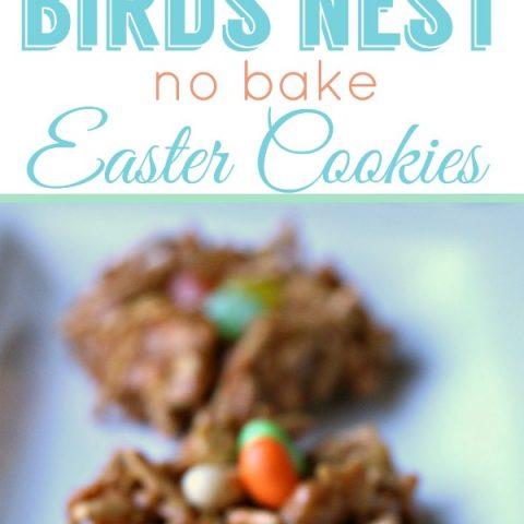 Birds Nest NO BAKE Easter Cookies