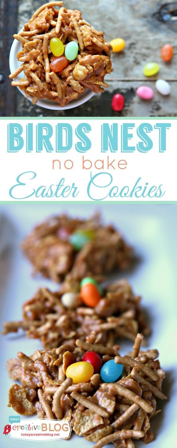 Birds Nest No Bake Easter Cookies | TodaysCreativeBlog.net
