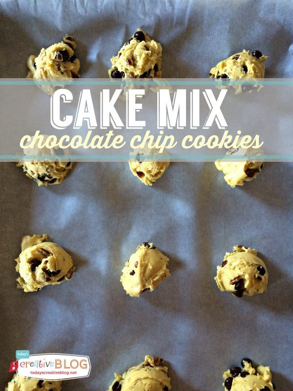 Cake Mix Chocolate Chip Cookie Recipe | TodaysCreativeBlog.net