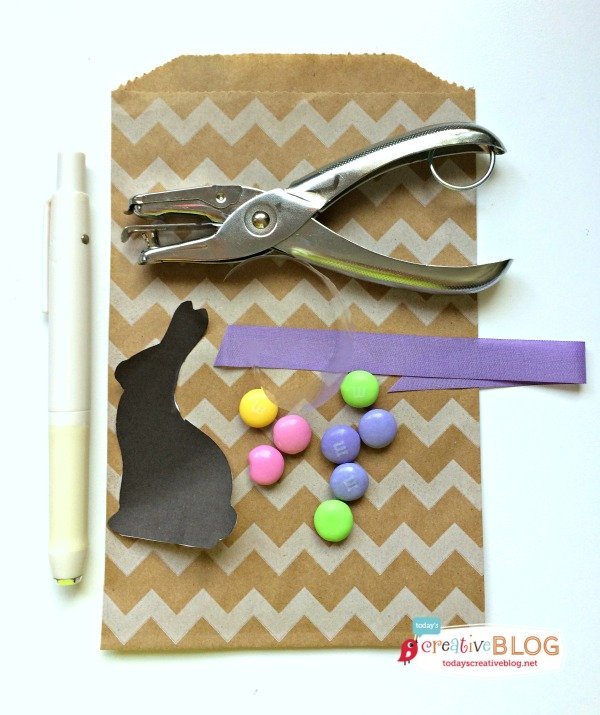 Easter treat bag craft supplies