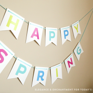FREE Printable Spring & Easter Bunting | TodaysCreativeBlog.net