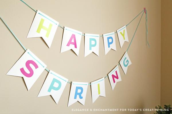 FREE Printable Spring & Easter Bunting | TodaysCreativeBlog.net