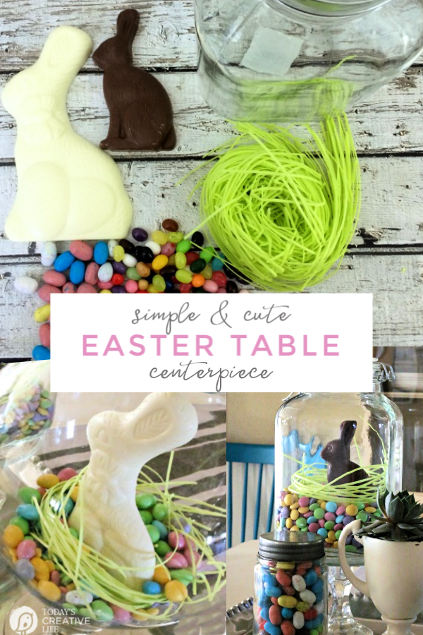 Photo collage of Easter Candy for Centerpiece