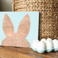 Bunny Silhouette Wall Art DIY