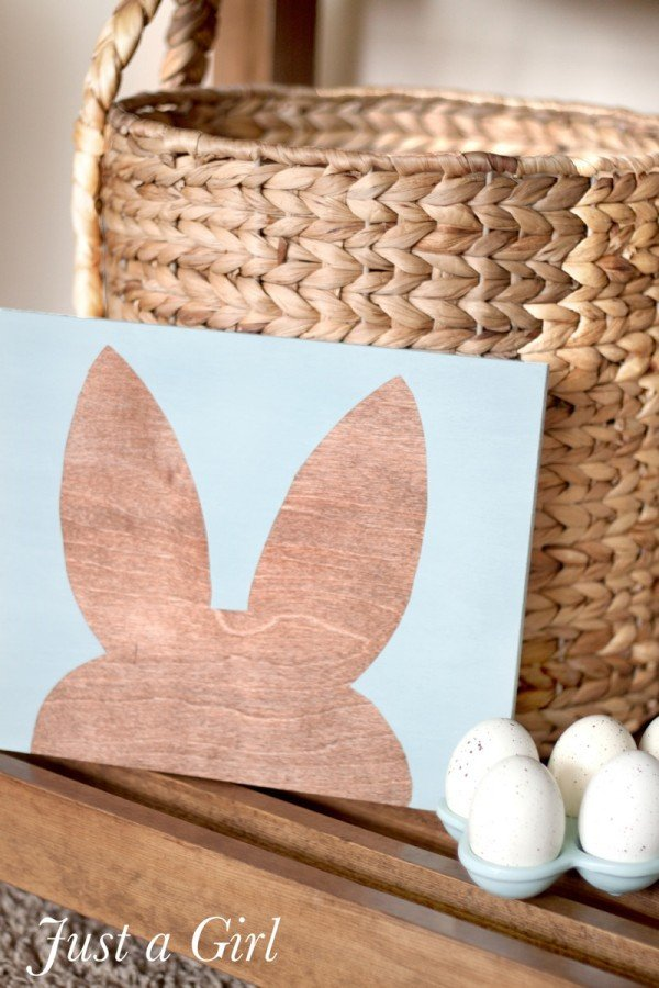 Bunny Silhouette Wall Art | TodaysCreativeBlog.net