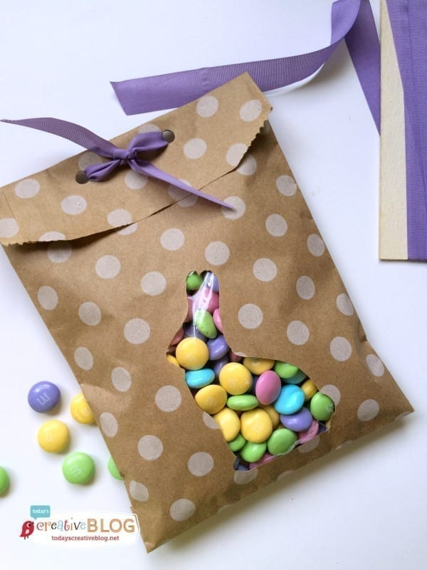 Easter Treat Bags with pastel M&Ms